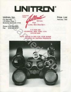 UnitronPriceList1992