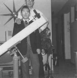 01 Xmas 1960 with my first scope. Edmund 4.25-inch Newtonian