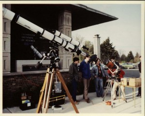 06 My 4-inch Unitron on Astronomy Day at Cranbrook 1982